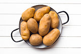 uncooked potatoes in pot