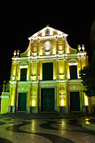 Sao Domingos, St. Dominic's Church in Macau at night.