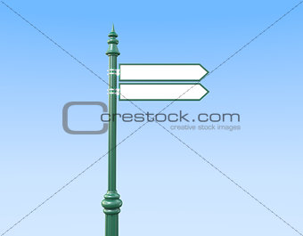 Classic Sign Post with two Signs sky