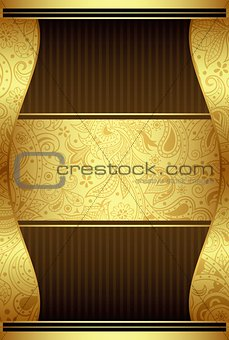 Abstract Chocolate Label