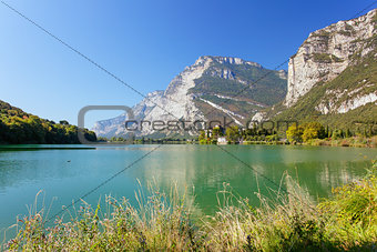 Toblino lake and castle