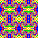 Design seamless multicolor abstract pattern.  Whirl elements twi