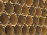 Yellow Metel drainage pipes