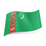 State flag of Turkmenistan