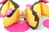 diamond ring with fortune cookie
