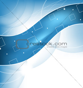 Abstract techno background, wavy design
