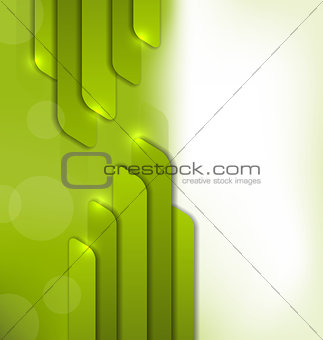 Abstract green background, trendy colorful card