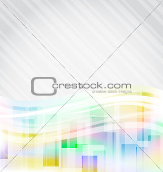 Abstract squares background for design business card