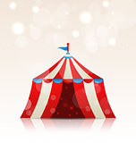 Open circus stripe entertainment tent
