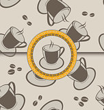 Seamless background with coffee cups for design packing