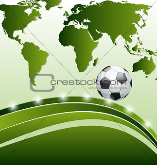 Football background with ball for design card