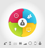 Set infographic icons, minimal style