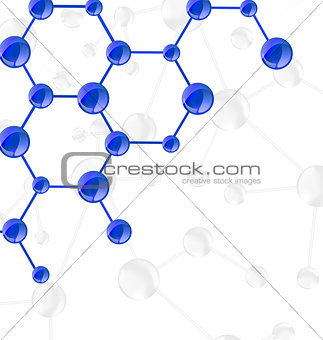 Molecular structures chain with copy space