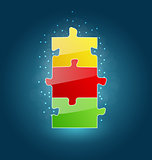 Business concept with set puzzle pieces for success venture
