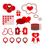 Set infographic elements of valentine presentation