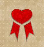 Award ribbon heart for Valentines day, vintage design