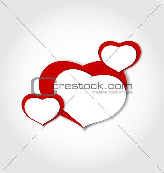 Valentine background made of hearts stickers