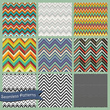 Set of Vector Seamless geometric hipster backgrounds. Retro Vintage Zigzag patterns. Illustrator pattern swatches are available.