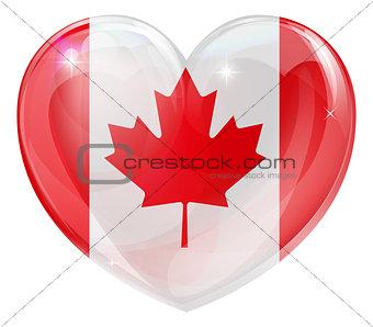 Canada flag love heart