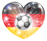 german soccer heart flag