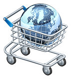 Shopping trolley globe