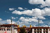 Front Jokhang Temple Blue Sky Lhasa Tibet