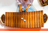 Traditional Thai Xylophone Instrument Ranat Ek