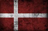 Grungy Denmark Flag