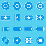 Create banner blue color icons