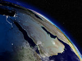Morning over Arabian peninsula