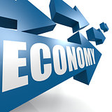 Economy arrow blue