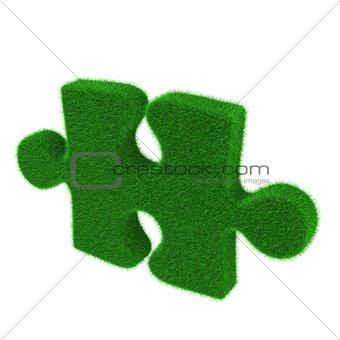 Green grass puzzle piece