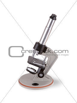 Old microscope isolated