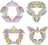 stylized decorative flaming frames