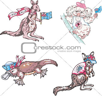 Australian marsupials animals