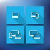 Internet service provider icons, eps 10