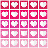 Seamless ombre pattern with hearts - Valentine's Day, love concept
