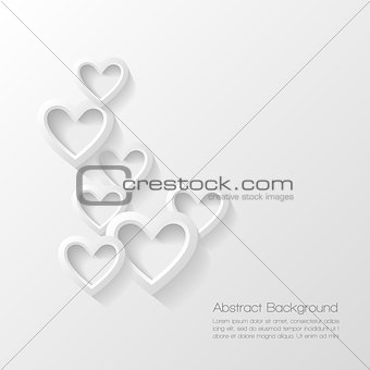 Abstract valentine day background. Vector illustration.