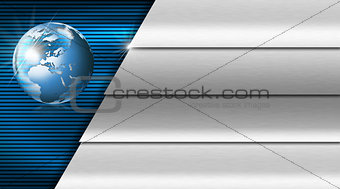 Blue and Metal Business Card