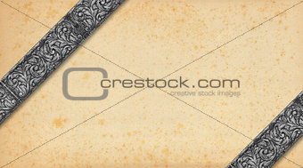 Old Paper and Silver Vintage Background