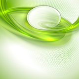 Abstract green waving background