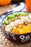 Granola with tropical fruits