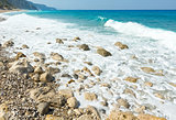 Lefkada coast summer beach (Greece)