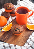Fresh orange berry muffins