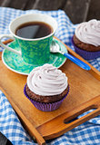 Cupcake and cup of coffee