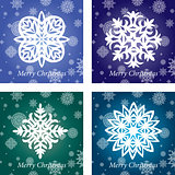 collection of handmade snowflakes