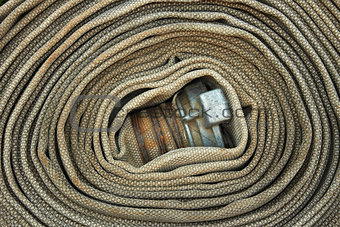 Old rolled fire hose
