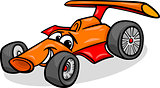 racing car bolide cartoon illustration