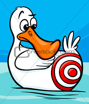 sitting duck saying cartoon illustration