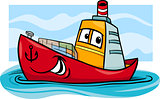 container ship cartoon illustration